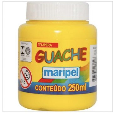 TINTA GUACHE  AMARELO 250ML