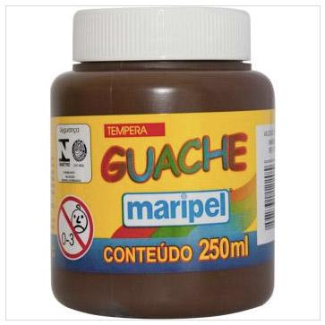 TINTA GUACHE MARROM 250ML