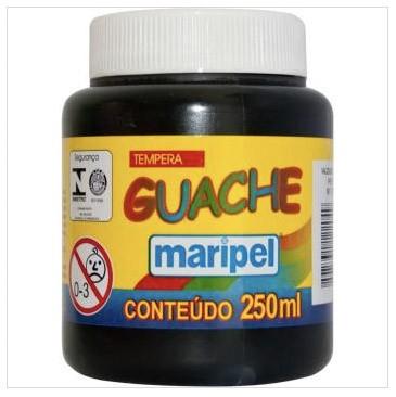 TINTA GUACHE  PRETO 250ML