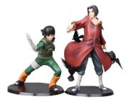 Kit 2 Action Figure Itachi Uchiha + Rock Lee Naruto Xtra