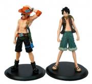 Kit 2 Action Figure One Piece Ace + Luffy Grandline Men Vol1