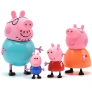 Kit 4 Action Figure Peppa Pig Papai Mamãe George Collect
