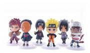 Kit 6 Action Figure Naruto Gaara Itachi Tobi Killer Sasuke