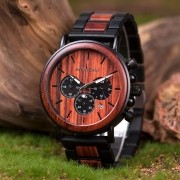 Relógio de Madeira e Aço Inox Malpighia - Bobo Bird
