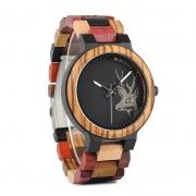 Relógio de Madeira Hirtella - Bobo Bird