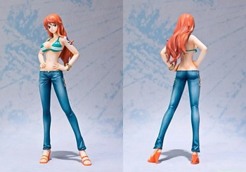 Action Figure One Piece Nami Figuarts Novo Mundo