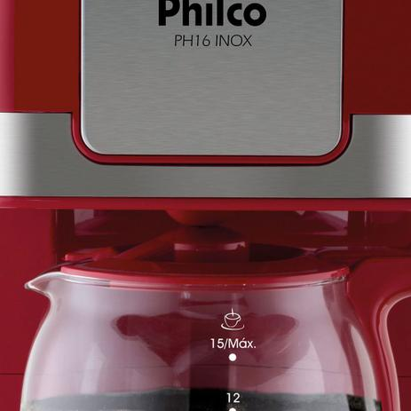 Cafeteira Ph16 Inox Vermelha Philco