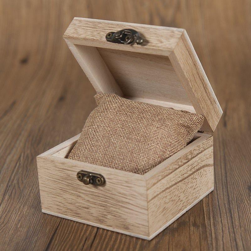 Caixa de Madeira para Relógio Quadrada com Fecho - Bobo Bird