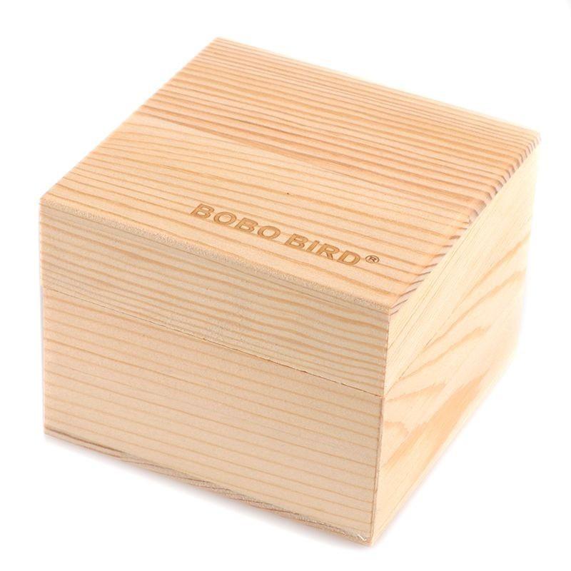 Caixa de Madeira para Relógio Quadrada sem Fecho - Bobo Bird