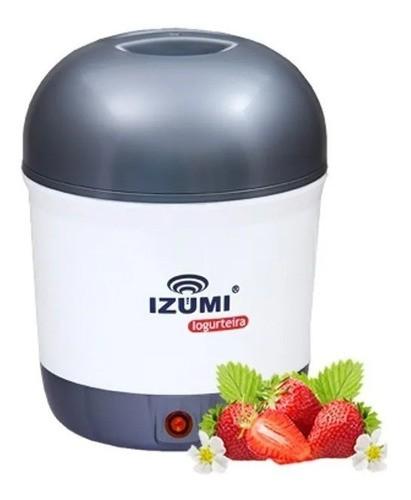 Iogurteira Elétrica Cinza Bivolt 1 Litro Modelo Novo Izumi