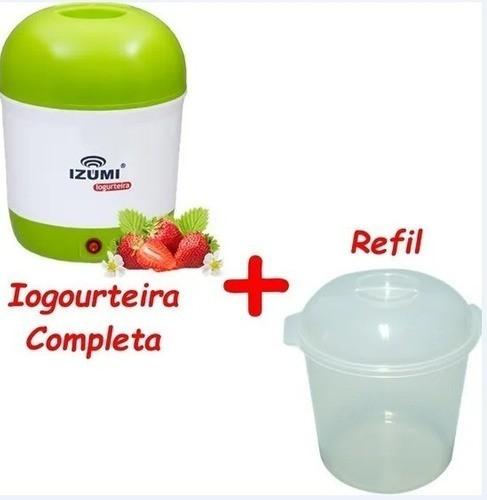 Iogurteira Elétrica Izumi Bivolt 1 Litro + 1 Refil Pote