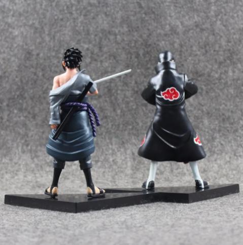 Kit 2 Action Figure Itachi + Sasuke Uchiha Dxf Shinobi Rela.