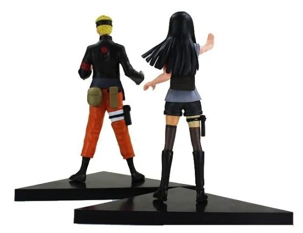 Kit 2 Action Figure Naruto + Hinata Dxf Shinobi Relations