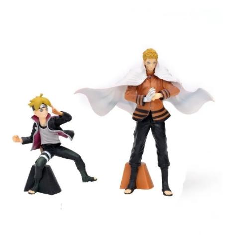Kit 2 Action Figure Naruto Hokage + Boruto Next Generations