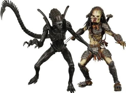 Kit 2 Action Figure Predador Vs Alien 2 Pack Exclusive