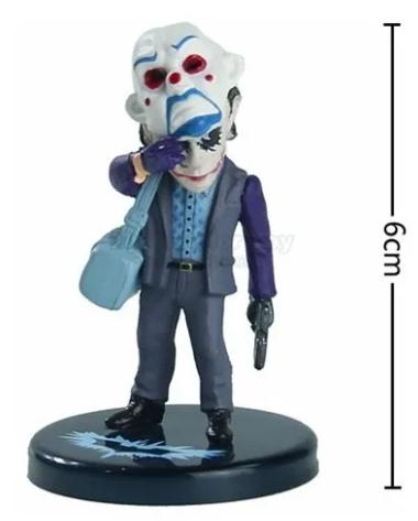 Kit 5 Action Figure Batman Joker Coringa Heath Ledger