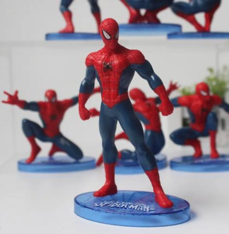 Kit 6 Action Figure Bonecos Homem Aranha Spiderman Marvel