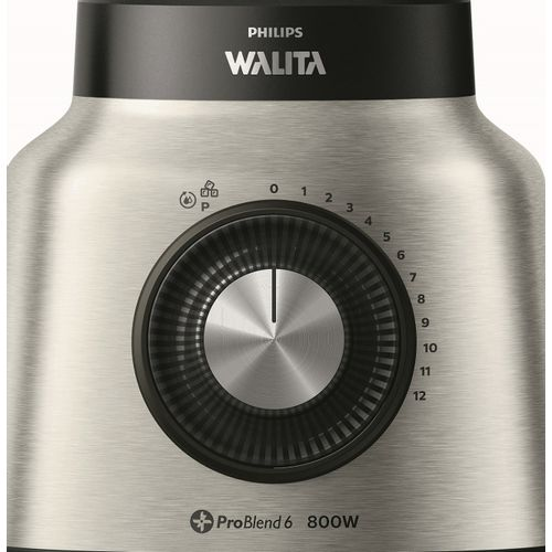 Liquidificador Philips Walita ProBlend RI2137 2,4L 6 Lâminas 12 Velocidades c/Copo Duravita Inox 800W - 110V