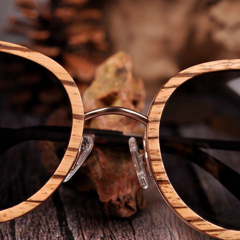 Óculos de Madeira e Aço Inox Madagascar - Bobo Bird