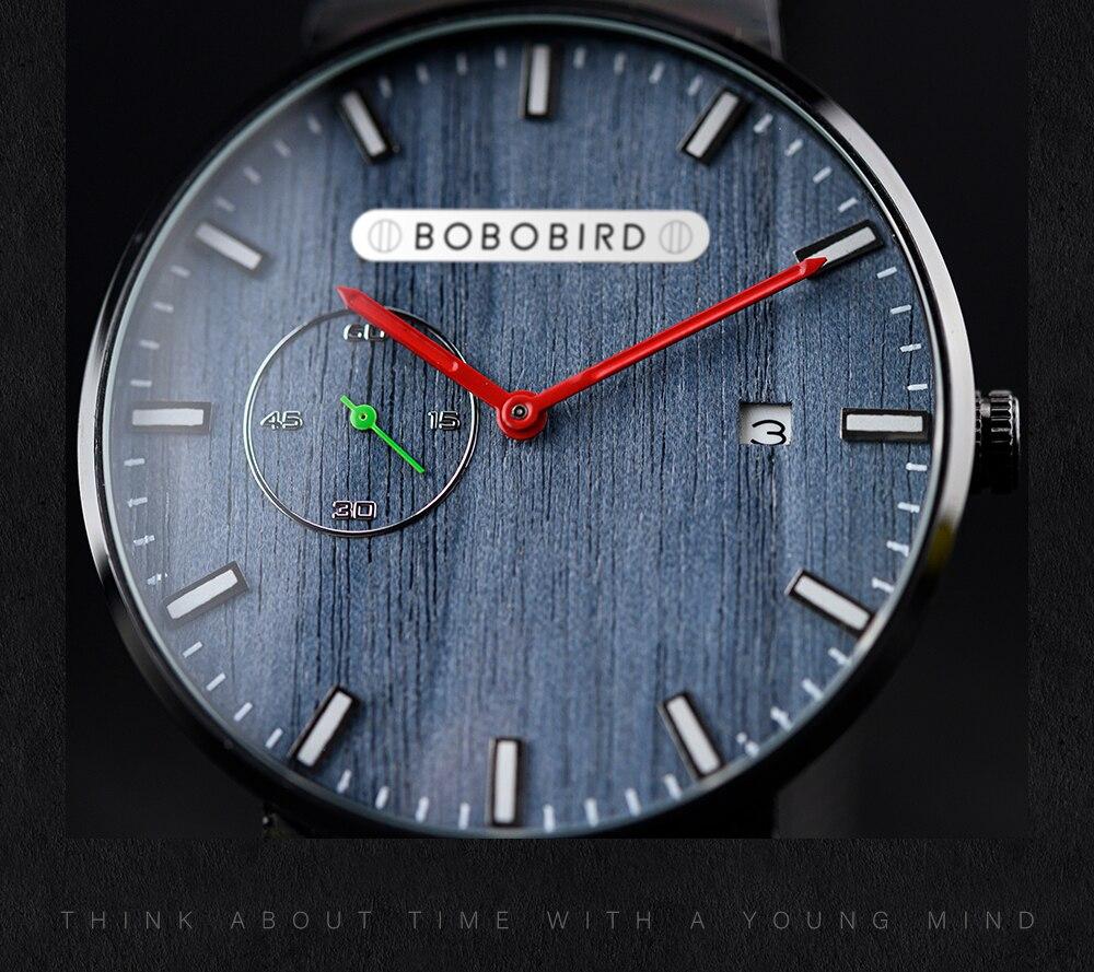 Relógio de Aço Inox Cementita - Bobo Bird