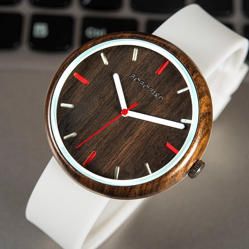 Relógio de Madeira Acacia - Bobo Bird