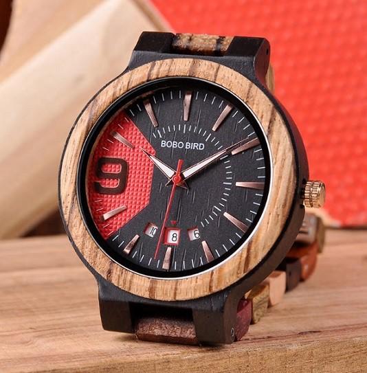 Relógio de Madeira Acosmium - Bobo Bird