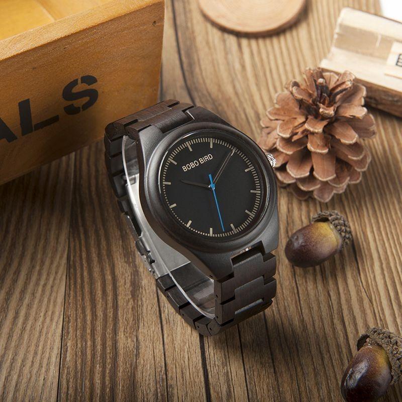 Relógio de Madeira Aesculus - Bobo Bird