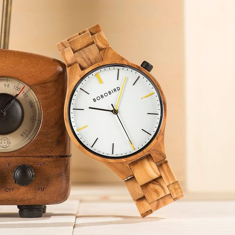 Relógio de Madeira Agonandra - Bobo Bird