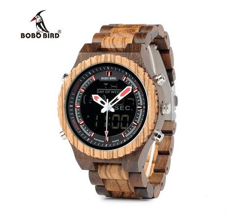 Relógio de Madeira Ailanthus - Bobo Bird