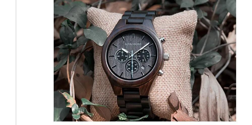 Relógio de Madeira Bathysa - Bobo Bird
