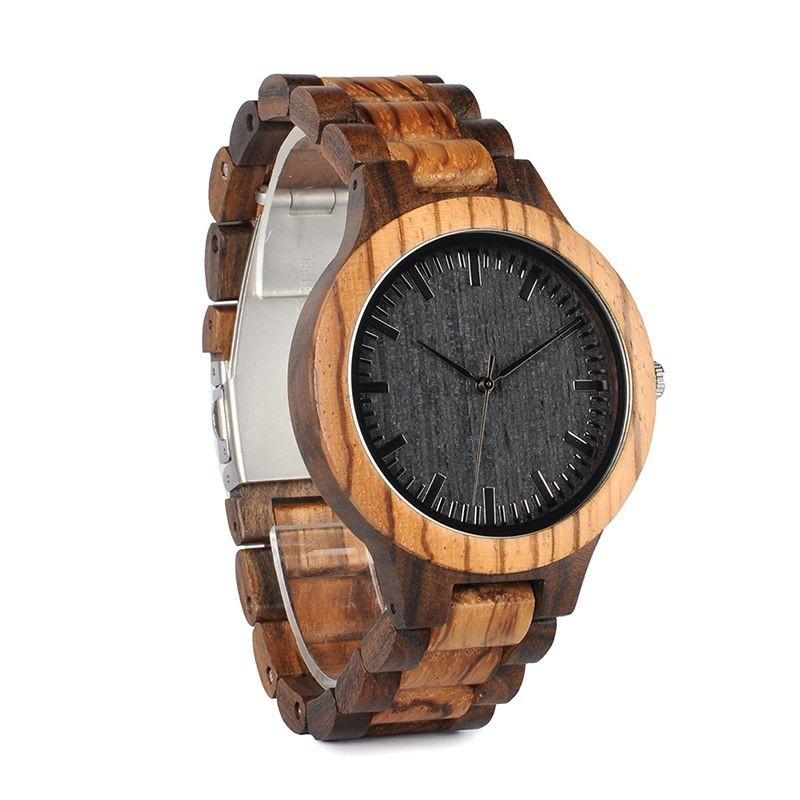 Relógio de Madeira Bauhinia - Bobo Bird