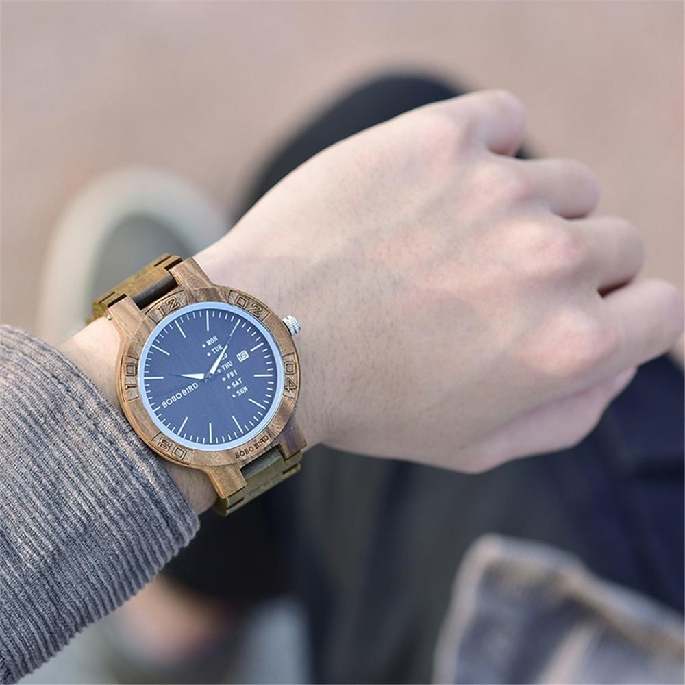Relógio de Madeira Boninia - Bobo Bird