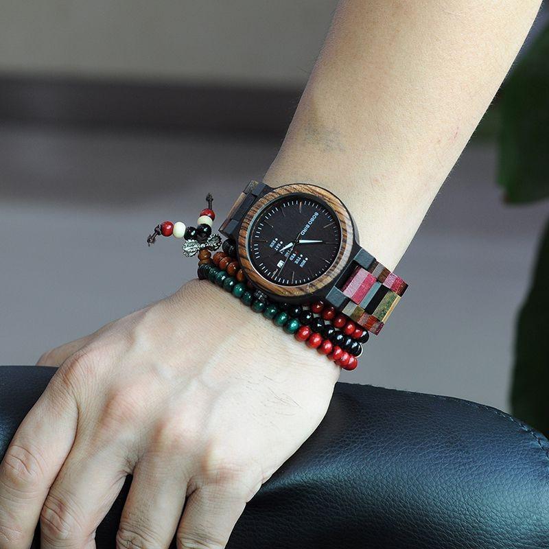 Relógio de Madeira Calliandra - Bobo Bird