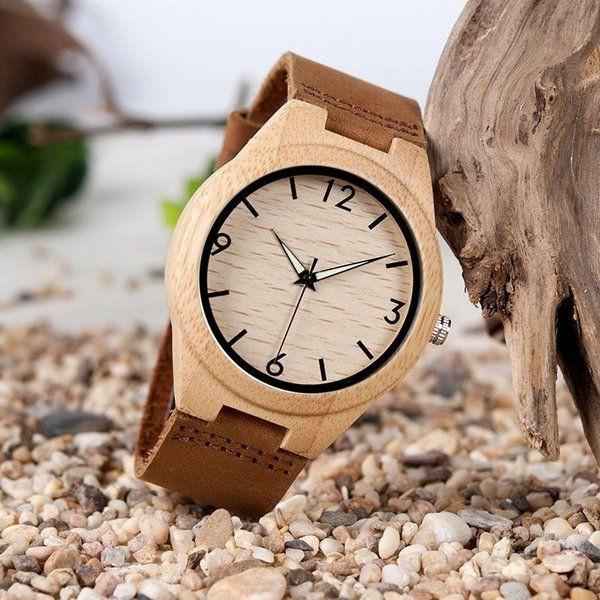 Relógio de Madeira Camphora - Bobo Bird