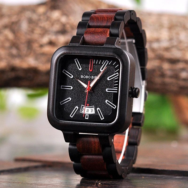 Relógio de Madeira Castanea - Bobo Bird