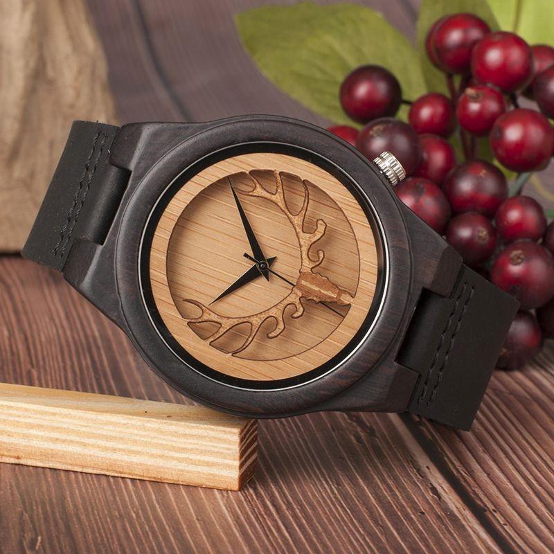 Relógio de Madeira Cedars Preto - Bobo Bird