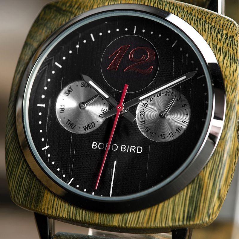 Relógio de Madeira Ceiba - Bobo Bird