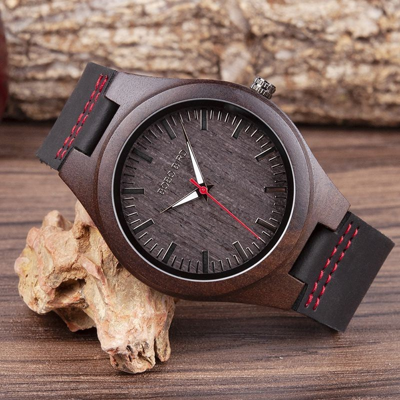 Relógio de Madeira Copaifera - Bobo Bird