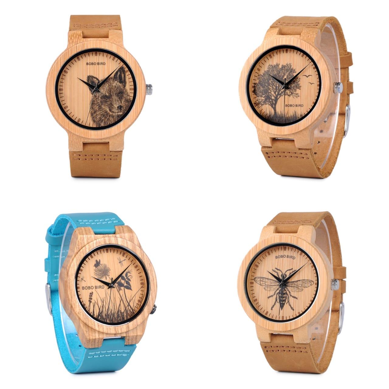 Relógio de Madeira Cordia - Bobo Bird