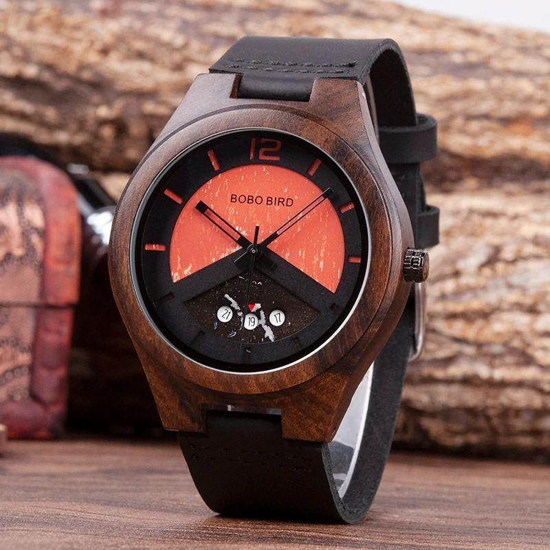 Relógio de Madeira Crataegus - Bobo Bird