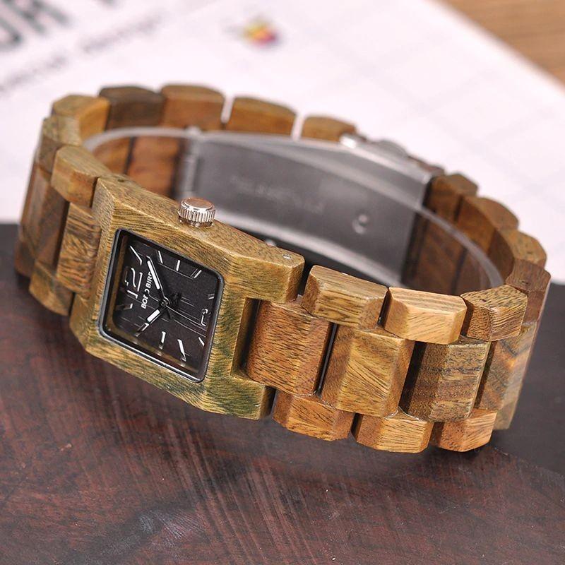 Relógio de Madeira Cryptomeria - Bobo Bird