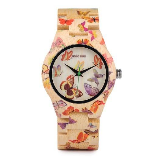 Relógio de Madeira Delonix - Bobo Bird