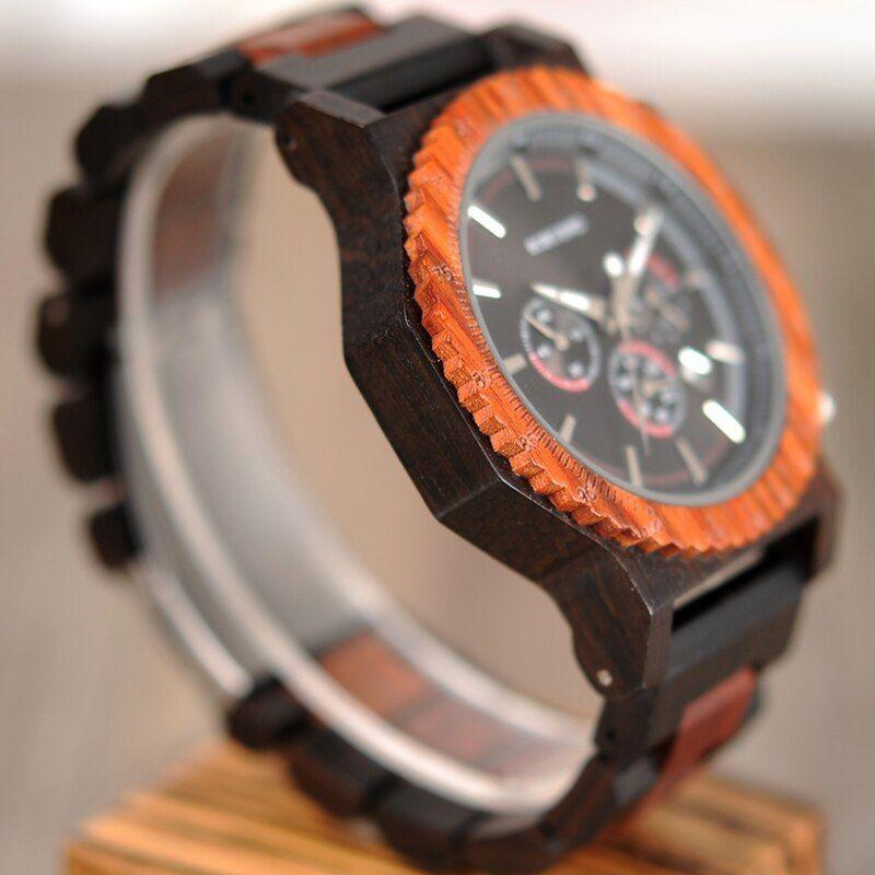 Relógio de Madeira Didymopanax - Bobo Bird