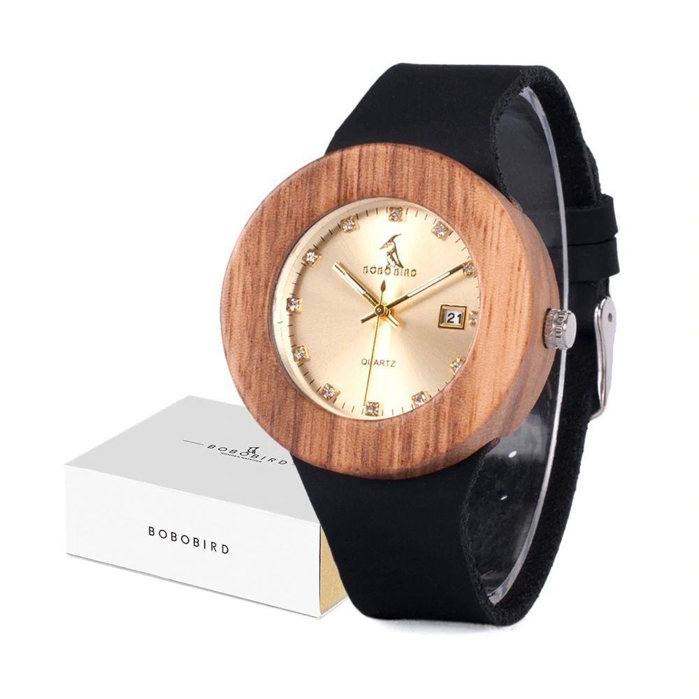 Relógio de Madeira Dilenia - Bobo Bird