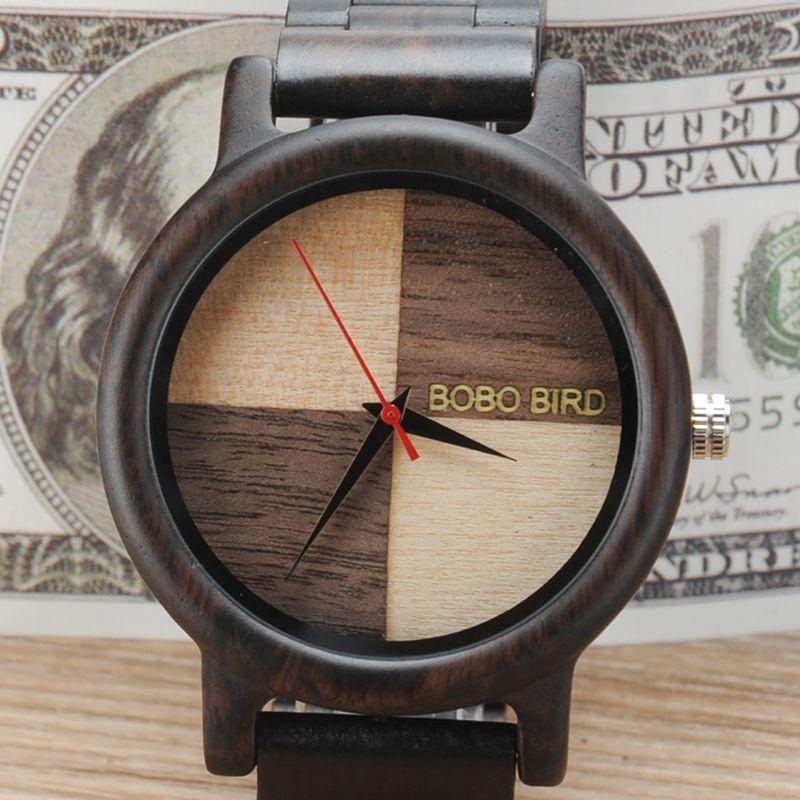 Relógio de Madeira Diospyros - Bobo Bird