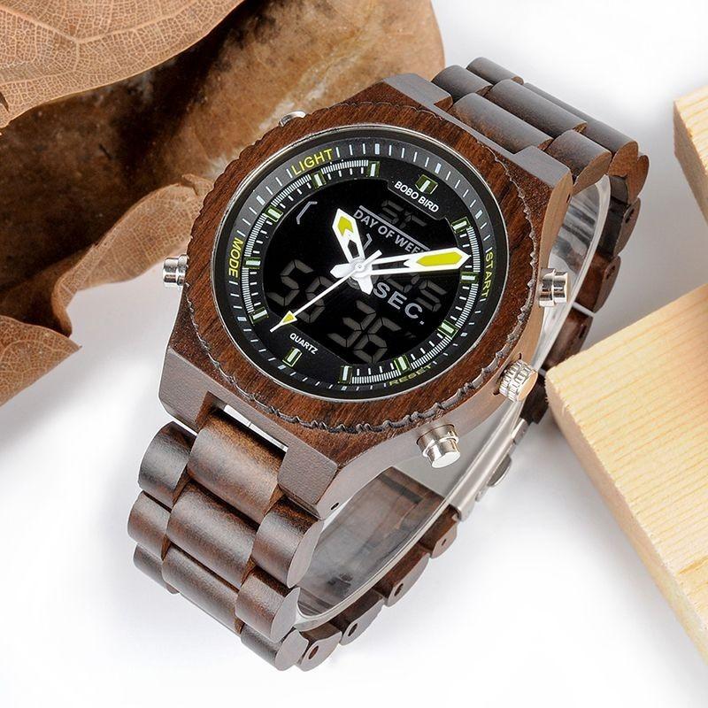 Relógio de Madeira Dipteryx  - Bobo Bird