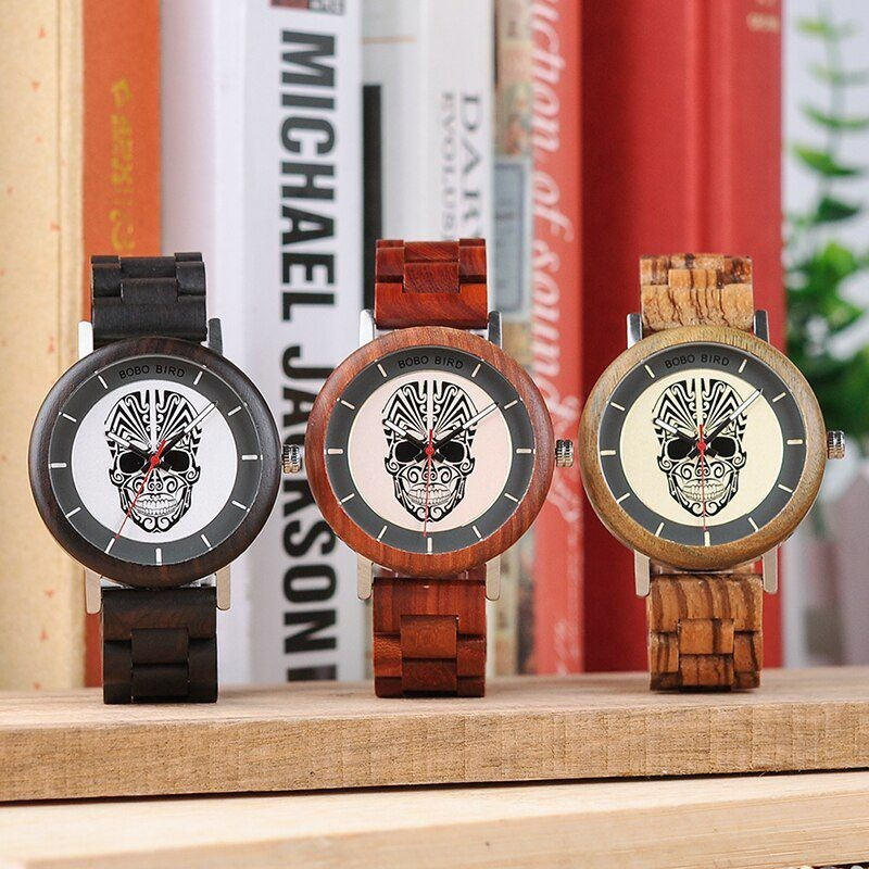 Relógio de Madeira e Aço Inox Álamo - Bobo Bird