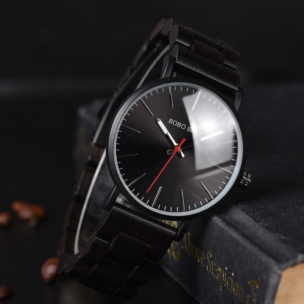 Relógio de Madeira e Aço Inox Croton - Bobo Bird