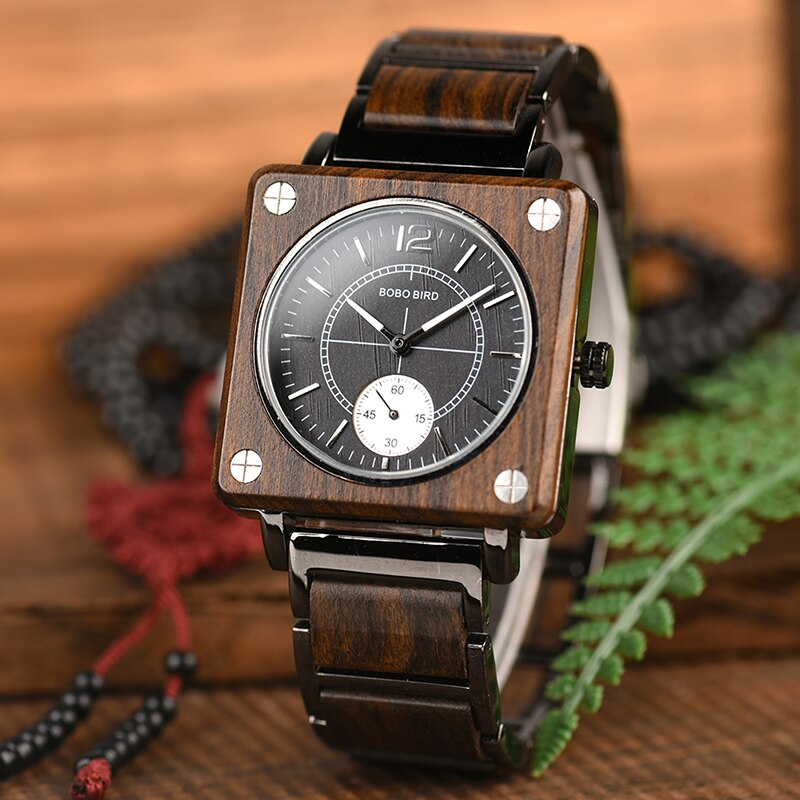 Relógio de Madeira e Aço Inox Cybianthus - Bobo Bird