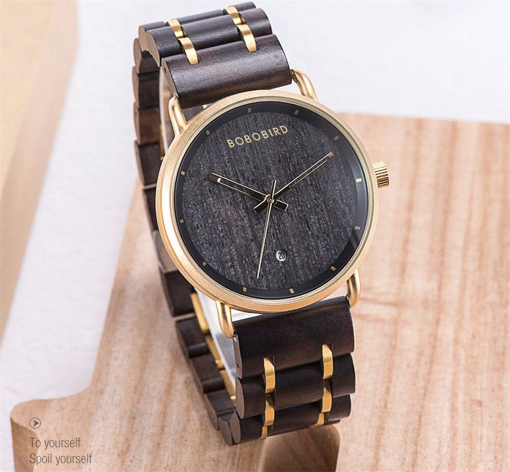 Relógio de Madeira e Aço Inox Galipea - Bobo Bird